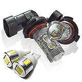 シーマ F50 対応 お買得バルブセット HB4 LEDフォグランプ & T10 LEDポジションランプ ホワイト
