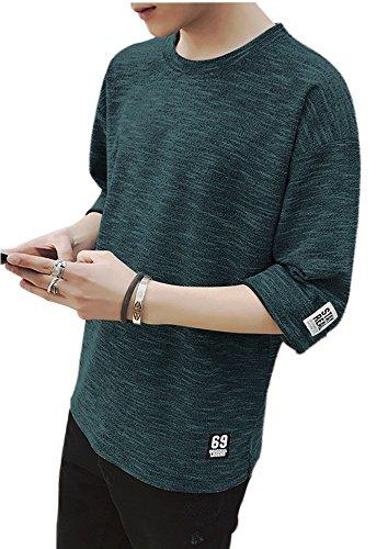 Eyard メンズ カットソー ファッション 五分袖 Tシャツ 夏季対応 トップス