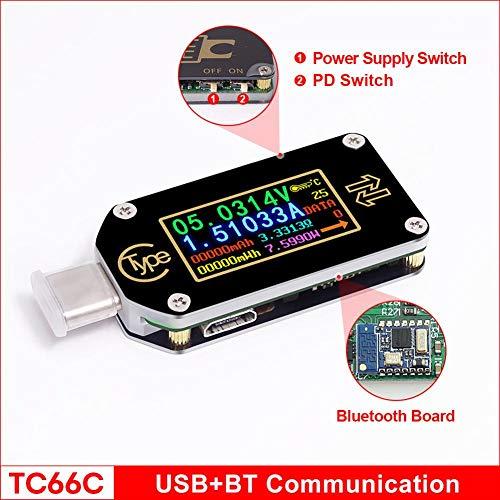 USB電圧テスタ カラーディスプレイテスタ USBマルチメータ測定器 Uディスク容量テスト タイプC電圧計 電流計 マルチメータ バッテリテスタサポート TC66急速充電PDプロトコル カラーLCDディスプレイ