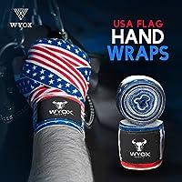 wyox Hand Wraps Mexican包帯Boxing Fist InnerグローブムエタイMMA USAフラグ