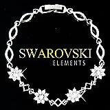【SWAROVSKI ELEMENTS】 フラワーデザイン ブレスレット スワロフスキー エレメンツ 正規品 プレゼント