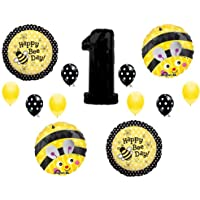 BUMBLEBEE 1st First Happy Birthday Party balloons Decorations Supplies