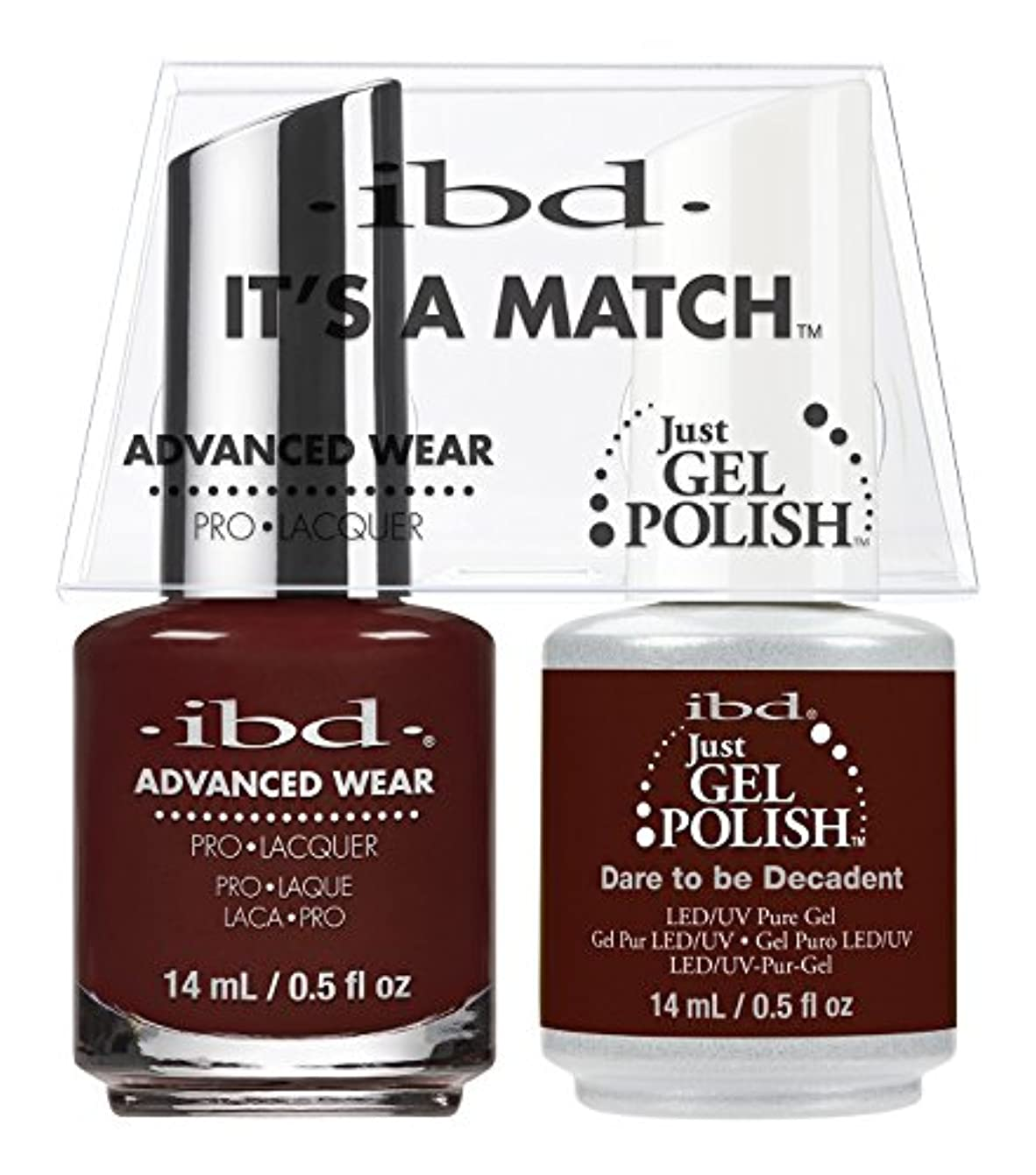 オーバーヘッド変更可能故意のibd - It's A Match -Duo Pack- Dare to be Decadent- 14 mL / 0.5 oz Each