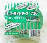 積水 フィットライトテープ 50mm×25M 3ケース(90巻入り) 緑色