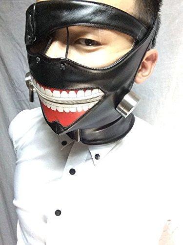 東京喰種トーキョーグール 金木研 仮面 (マスク + 眼帯) コスチューム用小物 男女共用 フリーサイズ