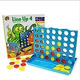 立体四子棋 四连棋 五子棋益智玩具幼儿园礼物Line Up 4 ボードゲーム、クラシックファミリおもちゃ 子供と大人のボードゲーム