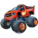LoonBalloon BLAZE and the Monster Machines TRUCK Red Figure Birthday Party Mylar Balloon by LoonBalloon