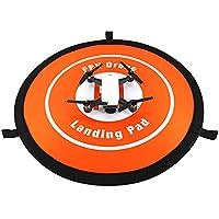 ドローン用 ランディングマット エプロン ヘリポート オレンジ ランディングパッド 折り畳み式 防水 DJI Spark、Mavic対応 着陸場 55CM 携帯便利