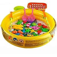 子釣りおもちゃ水泳磁気パズルセット猫魚ポール