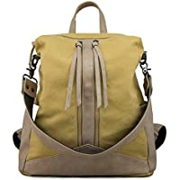 QLSQアンティーク調 キャンバス アウトドア リュック 登山用ザック バックパック 防震 通気 多機能バッグ 旅行バッグ 大容量 カジュアル メンズ レディース