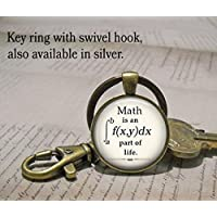 Math is an integral part of Life keychain, math keychain math geek gift math teacher gift math student gift mathematics key chain