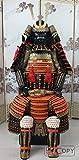 手作り甲冑 兜 等身大鎧 成人用 ウェアラブルな日本の武装鎧 鉄スーツオレンジ O06