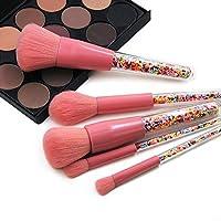 XULHKA 5本キャンディー化粧ブラシセットカラフルなファンデーションブレンドブラシ化粧ツール
