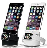 Apple Watch iPhone 同時 充電 スタンド Series 3 Series 2 series 1 対応 シリコン スタンド アップルウォッチ 38mm 42mm 各種対応 アイフォン 充電器 充電器スタンド 充電スタンド ドック ブラック O-stand Zepirion
