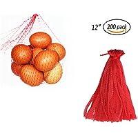 CUGBO ストレージバッグ メッシュバッグ 野菜/果物袋 ニンニク 玉ねぎ収納用 ネットバッグ 収納袋 エコバッグ 食品収納 通気性 再利用可能 便利 200個