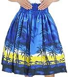 DFギャラリー パウスカート フラ ダンス衣装 レッスン用 シングル JA54260 70cm丈 ブルー