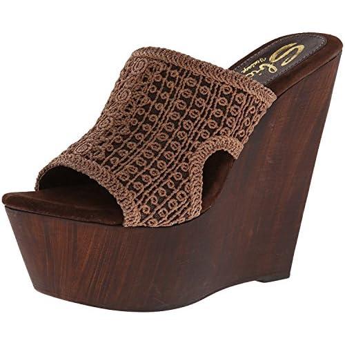 Sbicca Women's Tahiti Wedge Sandal brown 9 B US [並行輸入品]