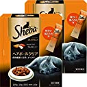 シーバ (Sheba) デュオプラス 成猫用 ヘアボールクリア 200g(20g×10袋入り)×2個セット キャットフード ドライ