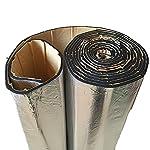 2ロール 車の自動ヴァン・サウンドプルーフ消音断熱材 10mm クローズドセル発泡ガラス繊維 50x100CM