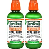 【お得な2本セット【セラブレス フレッシュブレス オーラルリンス マイルドミント 473ml/16オンス 並行輸入品 Therabreath Fresh Breath Oral Rinse Mild Mint, 16 oz × 2 Bottles
