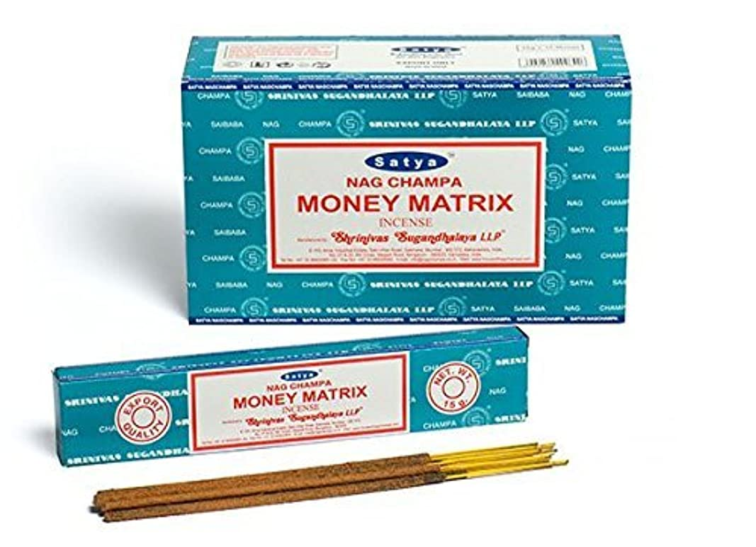 曲復活させる広げるBuycrafty Satya Champa Money Matrix Incense Stick,180 Grams Box (15g x 12 Boxes)