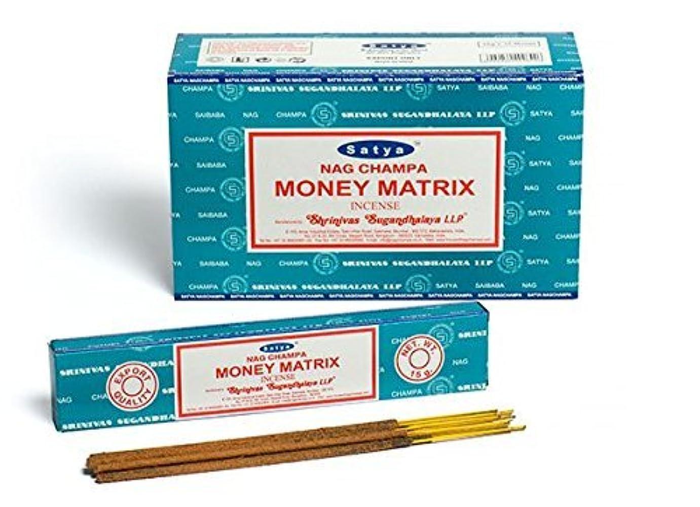 喜劇寛大さ有彩色のBuycrafty Satya Champa Money Matrix Incense Stick,180 Grams Box (15g x 12 Boxes)