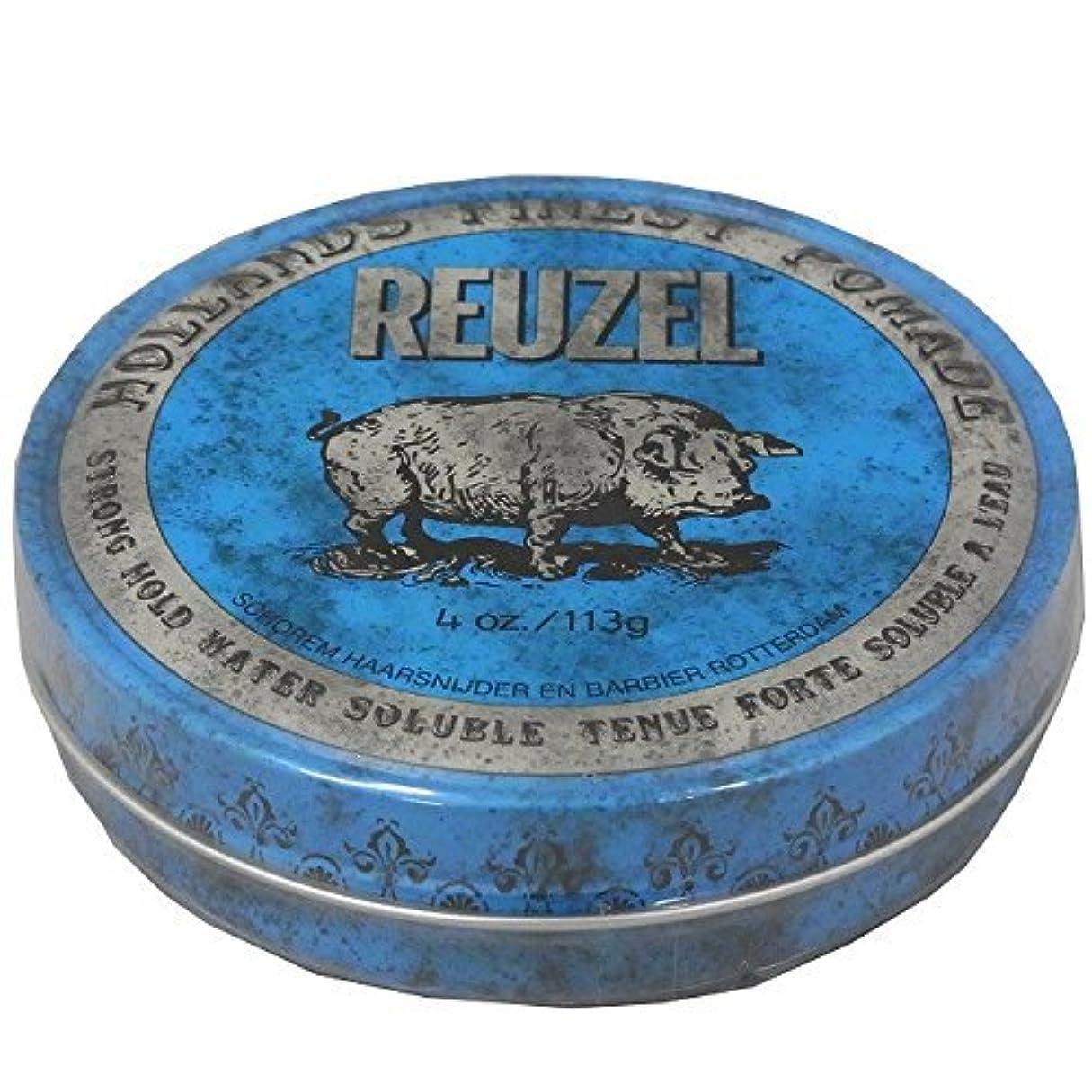 手書き彫刻意識的ルーゾー REUZEL STRONG HOLD HIGH SHEEN ストロングホールド ブルー 113g