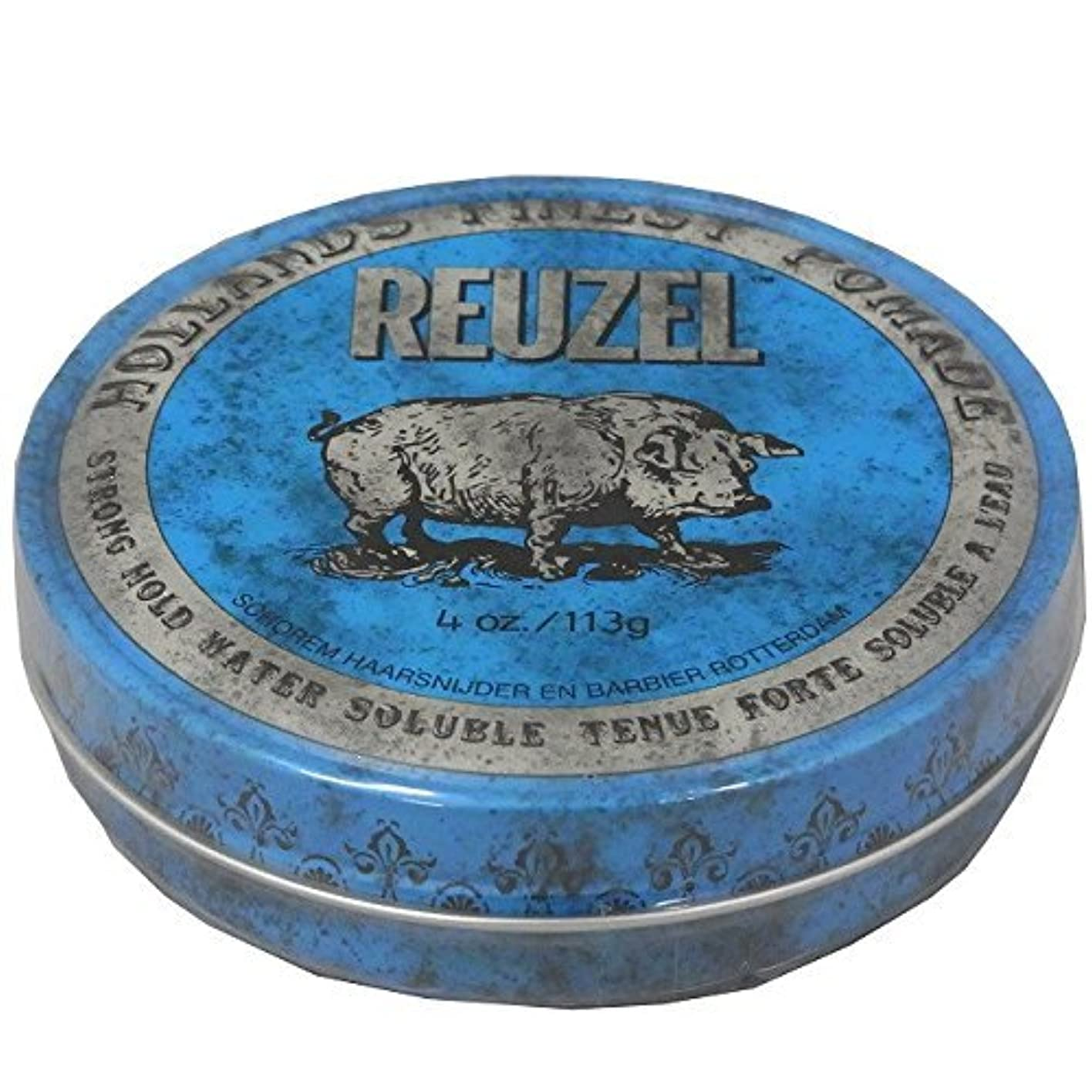 ピニオンピアニストめ言葉ルーゾー REUZEL STRONG HOLD HIGH SHEEN ストロングホールド ブルー 113g