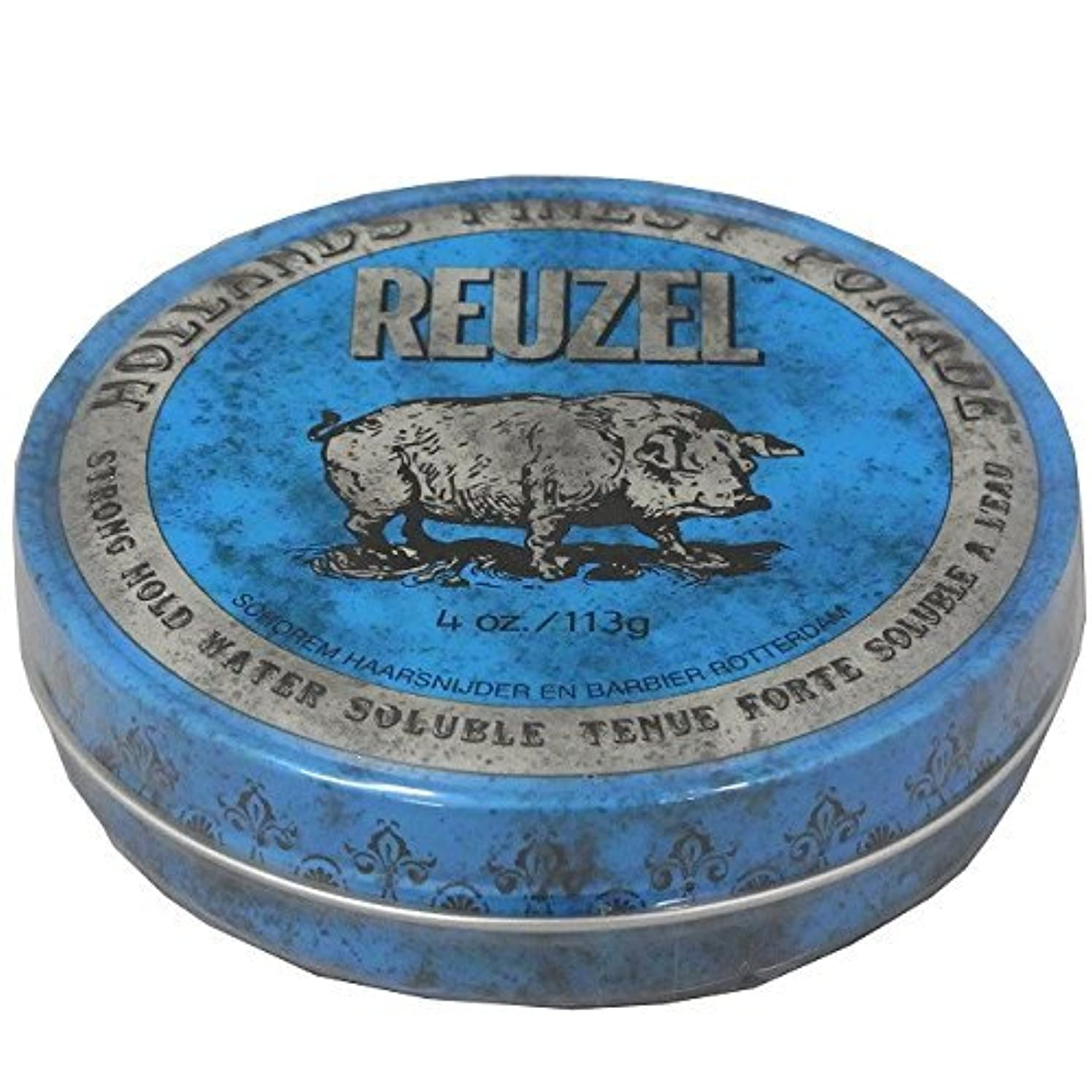 全滅させる誰アスリートルーゾー REUZEL STRONG HOLD HIGH SHEEN ストロングホールド ブルー 113g