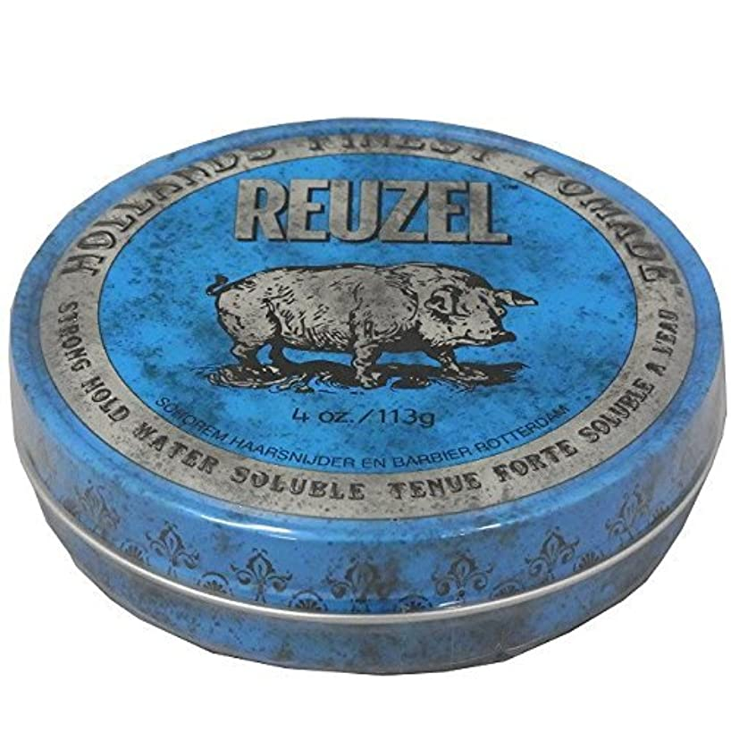 溝しないひいきにするルーゾー REUZEL STRONG HOLD HIGH SHEEN ストロングホールド ブルー 113g