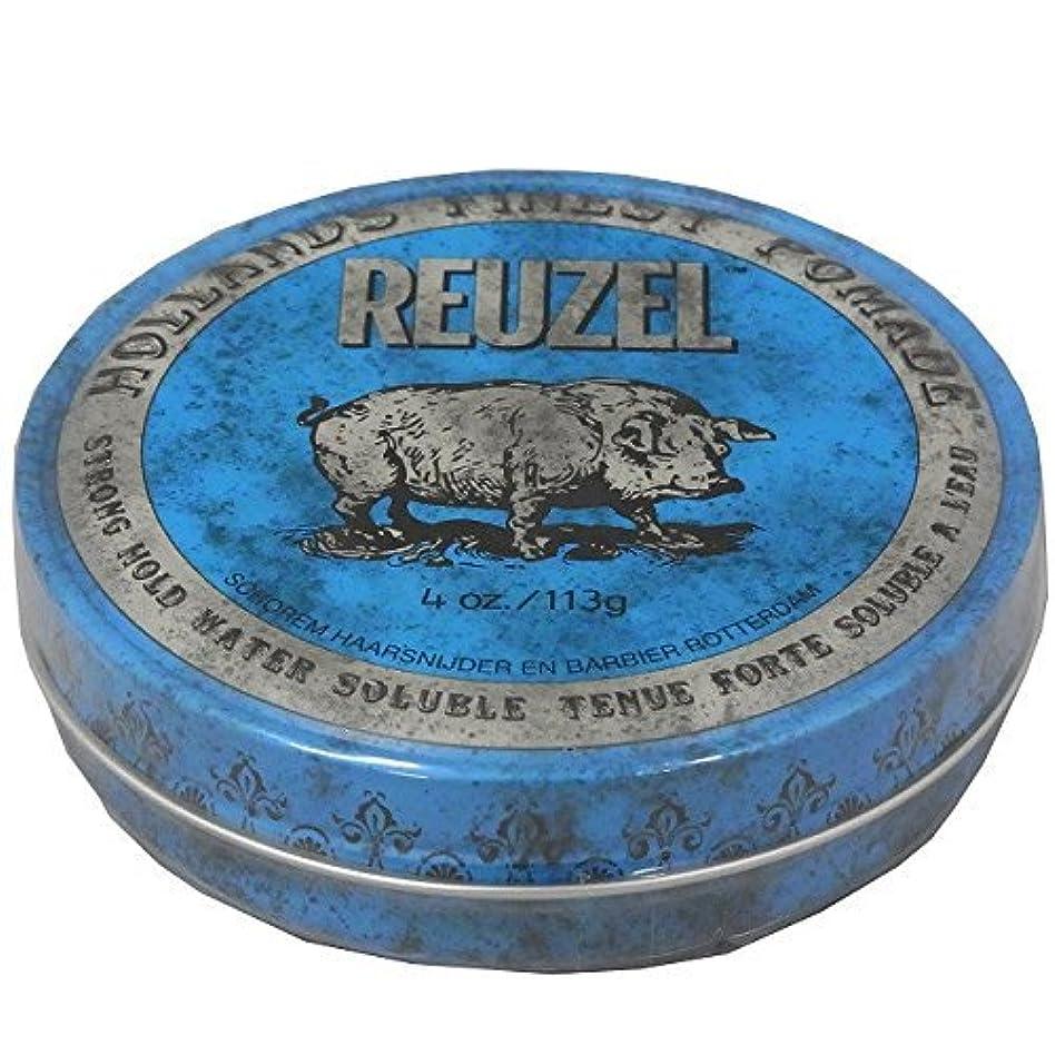 バトル通知する銛ルーゾー REUZEL STRONG HOLD HIGH SHEEN ストロングホールド ブルー 113g