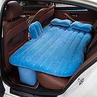 車のベッドカーインフレータブルベッドのカーマットレスPVCのフロッキング車のインフレータブルベッドの車のショックベッド ( 色 : 青 )