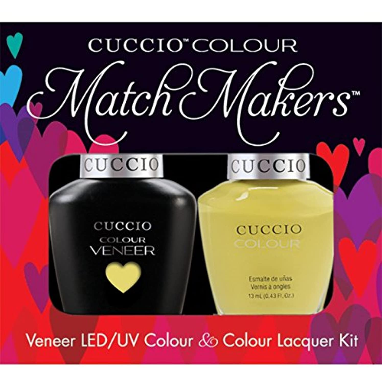 融合感度汚染されたCuccio MatchMakers Veneer & Lacquer - Good Vibrations - 0.43oz / 13ml Each