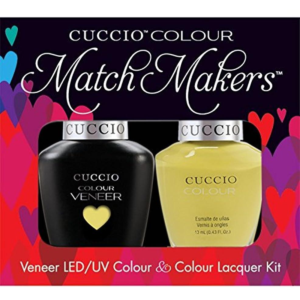 耐久倒錯裸Cuccio MatchMakers Veneer & Lacquer - Good Vibrations - 0.43oz / 13ml Each