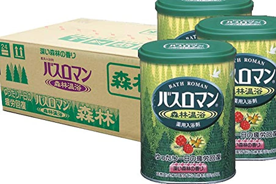 コインランドリーメタンレイアアース製薬 バスロマン 森林温浴 680g(入浴剤)×12点セット (4901080536112)