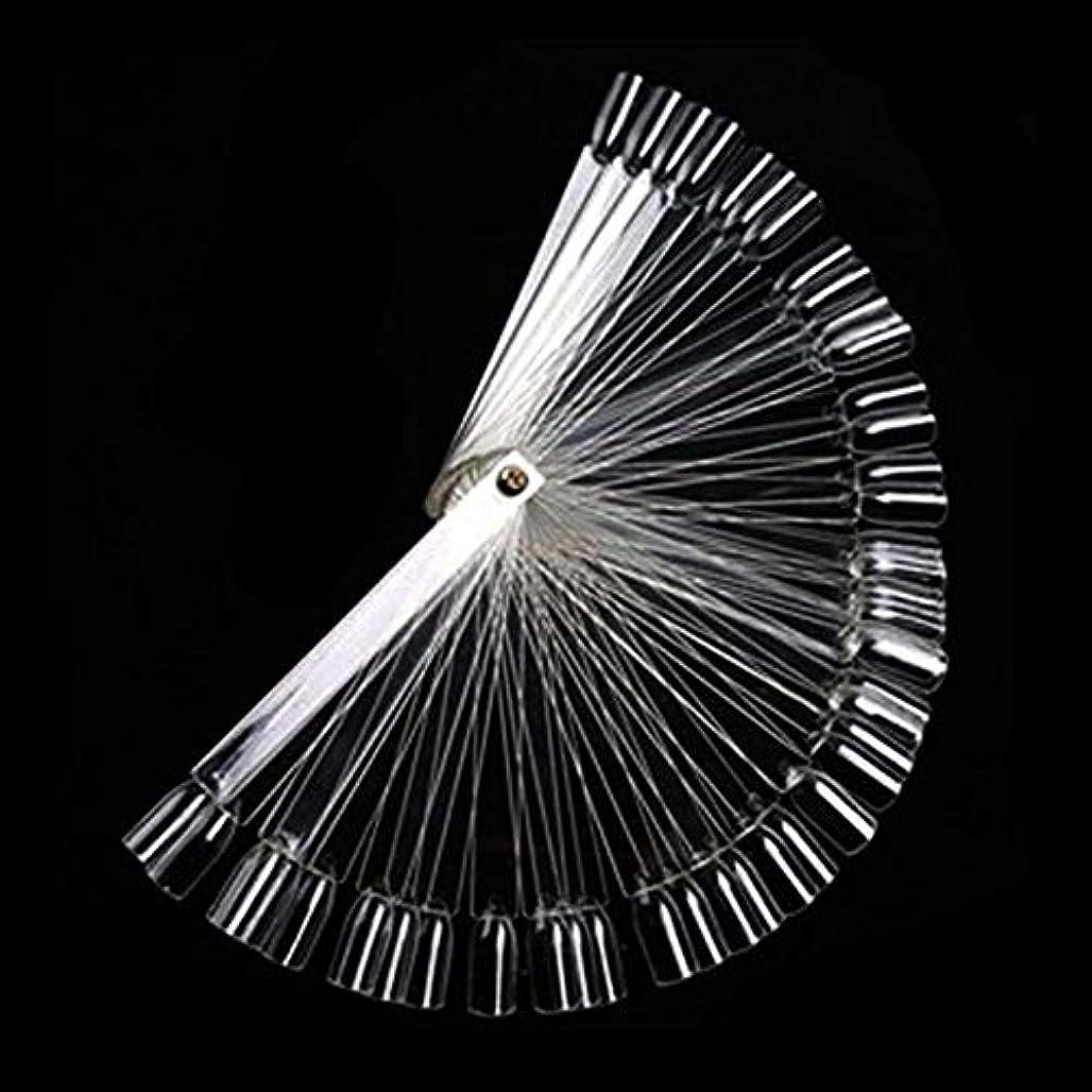 ペチコートリングバック実質的50Pcs ボードスティックネイルアート 練習マニキュアストア 使いやすい 透明