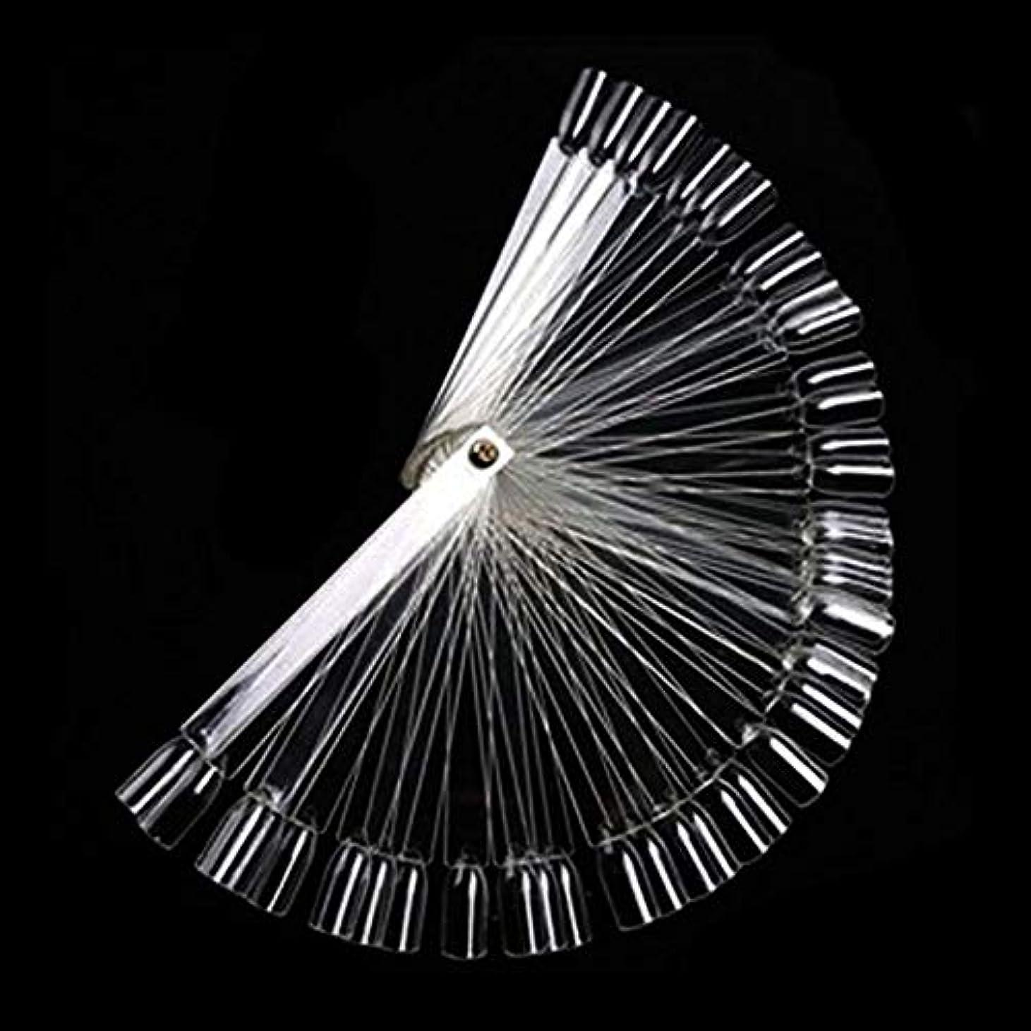 チーフ必需品鋼50Pcs ボードスティックネイルアート 練習マニキュアストア 使いやすい 透明