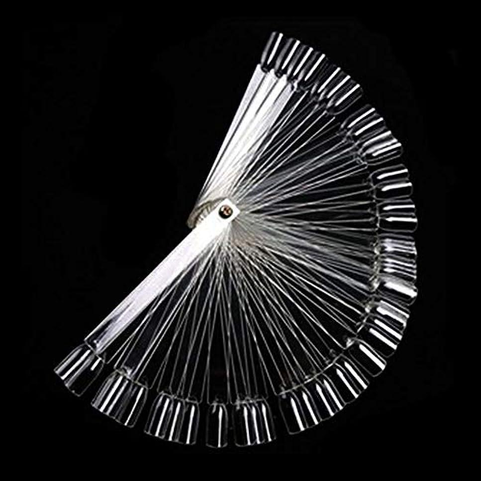 眉をひそめる器官崖50Pcs ボードスティックネイルアート 練習マニキュアストア 使いやすい 透明