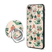Succulents And Cactuses スマホケース IPhone8 S ケース / IPhone7 S ケース 対応 全面クリア 耐衝撃 米軍MIL規格取得 すり傷防止