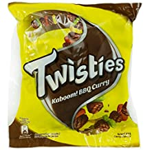 Twisties BBQ Curry Snack, 120g (Pack of 8)