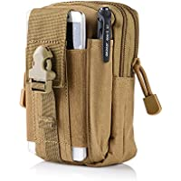 Tactical Molle Waist Bags Tactical Molle Pouch EDC Utility Gadget Belt Waist Bag Pocket Organizer with Cell Phone Holster Holder for iPhone Xs max Samsung Galaxy S9 S8 S7 Huawei Meta20 and More