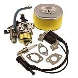 キャブレター 付きイグニッション コイル スパーク プラグ エア フィルターは ホンダ GX160 GX200 エンジンに適合  社外品