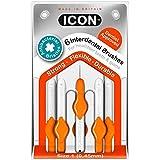 [Icon ] アイコンの歯間には、パックあたり0.45ミリメートル6ブラシ - Icon Interdental Brushes 0.45mm 6 per pack [並行輸入品]