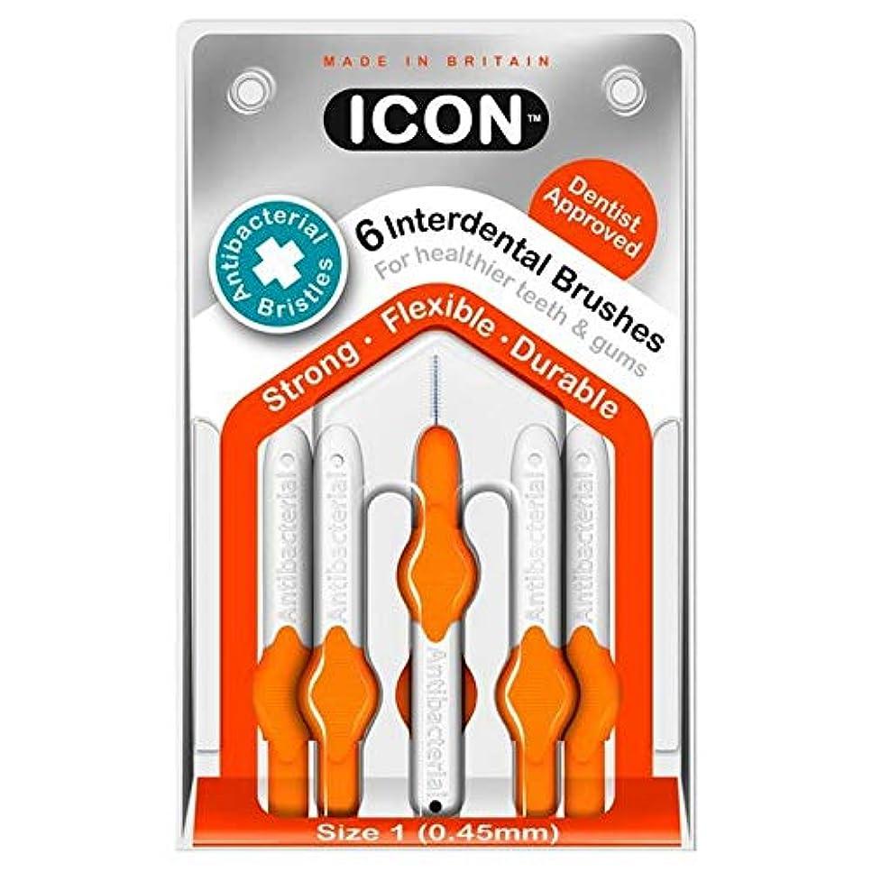 落とし穴養う献身[Icon ] アイコンの歯間には、パックあたり0.45ミリメートル6ブラシ - Icon Interdental Brushes 0.45mm 6 per pack [並行輸入品]