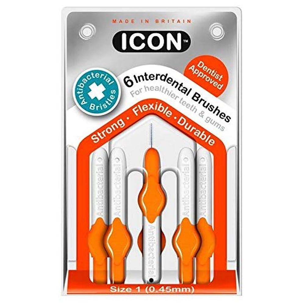 感じタイピストコック[Icon ] アイコンの歯間には、パックあたり0.45ミリメートル6ブラシ - Icon Interdental Brushes 0.45mm 6 per pack [並行輸入品]