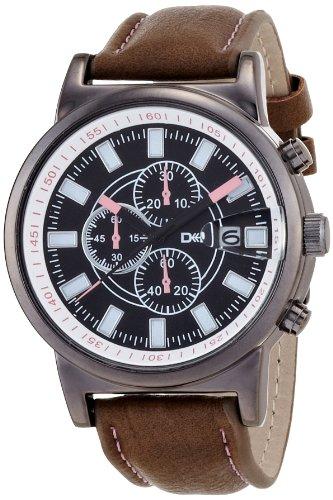 腕時計 ティース アナログ表示 ブラック×ピンク DT083-2 メンズ フィールドワーク