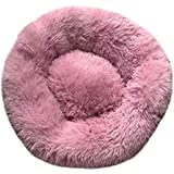 Apostasi Plush Donut Cuddler Cats Bed, Warm Plush Dog Puppy Mat Calming Pet Round Bed Nest Warm Soft Plush Comfortable for Sleeping Winter