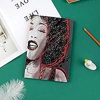 新しい ipad pro 11 2018 ケース スリムフィット シンプル 高級品質 手帳型 柔らかな内側 スタンド機能 保護ケース オートスリープ 傷つけサクソフォーン奏者の人気のあるサウンドデザインで歌っているアフリカ系アメリカ人の女の子