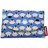 ペットラバーズ Fabric ポケット ティシュポーチ ケース TK-108V ペンギン Penguin 青紫