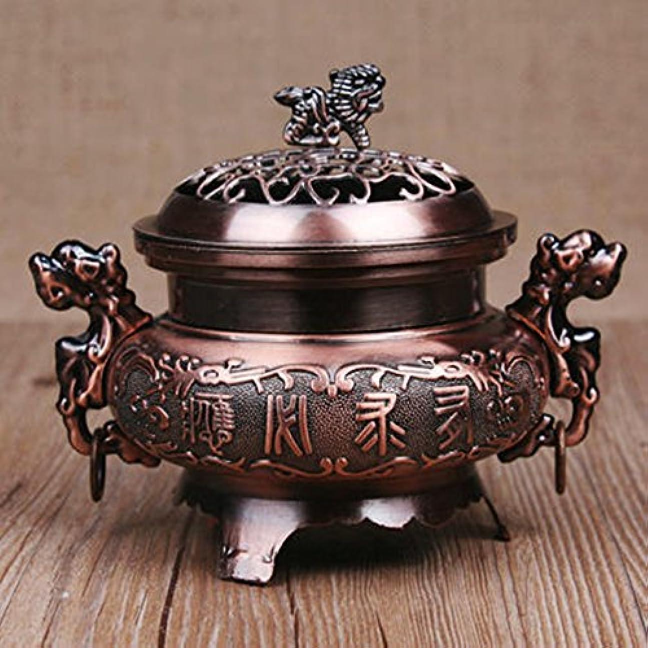 中ましいサミュエルZehuiレトロスタイル合金香炉ダブルドラゴンHollowカバーCenser円錐ホルダーホーム装飾 MX-EYZJ1849-JJ26099C0B20